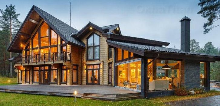 Деревянные окна со стеклопакетом в СПб, купить окна из дерева для дома и дачи от производителя - цены, отзывы, фото